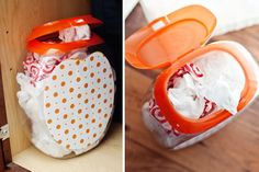 DIY: Repurpose a Laundry Pod Container to Corral Clutter! - The Krazy Coupon Lady DIY: Repurpose a Laundry Pod Container to Corral Clutter! - The Krazy Coupon Lady Upcycled Crafts, Repurposed, Diy Crafts, Tree Crafts, Fabric Crafts, Diy Cleaning Products, Cleaning Hacks, Tide Pods Container, Reuse Plastic Containers