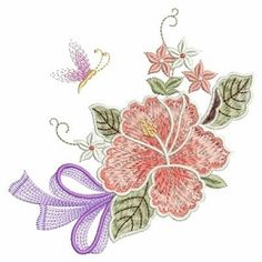 Hibiscus Delight 8 - 3 Sizes!   What's New   Machine Embroidery Designs   SWAKembroidery.com Ace Points Embroidery