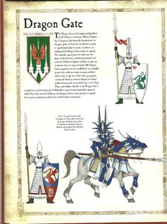Uniforms & Heraldry of the High Elven Garrison of the Dragon Gate