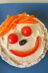 Don't forget to play with your food! This healthy snack is sure to be gobbled up by your little one.