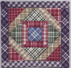 Miniature SQUARE PLAID Dollhouse Mini QUILT 6016NB Great for OOAK Doll