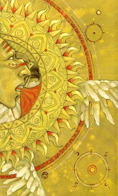 XIX The Sun from The Mary-el Tarot