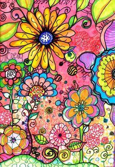 Find the snoopys art journal inspiration, doodle flowers, flower doodles, tangle doodle, Doodle Drawings, Doodle Art, Tangle Doodle, Doodle Canvas, Doodle Ideas, Art Journal Pages, Art Journals, Graffiti Kunst, Wal Art