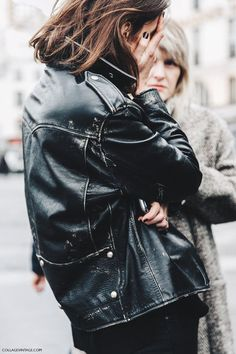 LEATHER JACKET, STREET STYLE, TOUGH LUXE