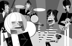 Rolling Stones 1968 (with Brian Jones) by Pablo Lobato