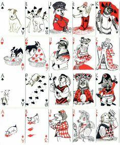 Hunde Spielkarten