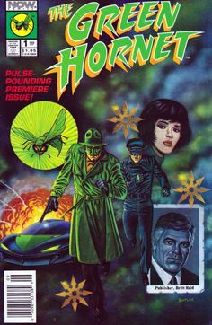 The Green Hornet #1 Now Comics Sep '91 Written by Chuck Dixon. Art by Tod Smith and David Mowry. Cover by Jeff Butler. Money Talks; Hornet and Kato bust the Gilder brothers in a money laundering operation, and are helped by a female martial artist in a samurai-style costume called the Crimson Wasp.