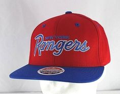 fed476e42 New York Rangers Red Blue NHL Baseball Cap Snapback  Zephyr  BaseballCap  Blues Nhl