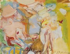 Untitled (Two Women) - Willem de Kooning , 1964 Dutch, oil on paper mounted on masonite , x 28 in. x cm. Ballet Painting, Dance Paintings, Oil Painting On Canvas, Abstract Paintings, Long Island, Willem De Kooning, Rotterdam, Gouache, Painting Inspiration