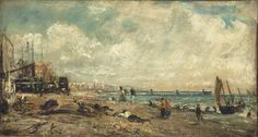 John Constable Sketch for The Marine Parade and Chain Pier, Brighton, after 1826 Olio su carta su tela, x cm Philadelphia Museum of Art English Romantic, Tate Britain, Philadelphia Museum Of Art, Philadelphia Pa, Royal Academy Of Arts, English Artists, European Paintings, Oil Painting Reproductions, Local Artists