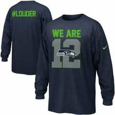 f096a1d94 Nike Seattle Seahawks We Are 12 Long Sleeve T-Shirt Nfl Seattle