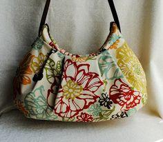 Pleated Bag // Shoulder Purse  Bibi Fiesta by lireca on Etsy, $35.00