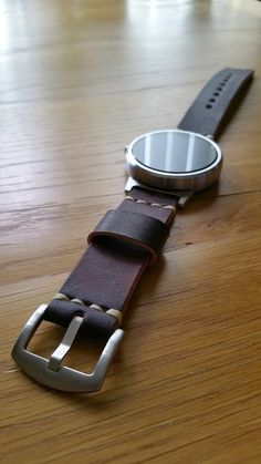 #PRIMRIA Leather strap (Wood brown) + #Steelconnect + #Moto360 by Paul Edworthy
