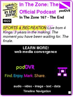 #SPORTS #PODCAST  In The Zone: The Official Podcast of Yellow Fever - Supporters of Wellington Phoenix FC    In The Zone 167 - The End    LISTEN...  http://podDVR.COM/?c=ca604ec7-cc62-a625-ff1d-9dd0c84d6c0f
