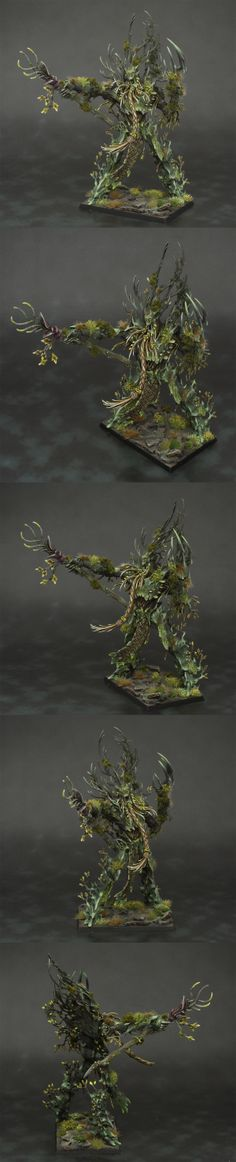 CoolMiniOrNot - Wood Elf Spring Treeman Ancient by Jambot // Love the look of the plantlife on the treeman