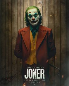 Joker poster art by Jackson Caspersz Le Joker Batman, Joker Art, Joker And Harley Quinn, Gotham Batman, Batman Art, Batman Robin, Joaquin Phoenix, Joker Phoenix, Joker Film