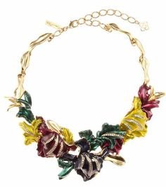 Crystal-embellished necklace | Oscar de la Renta