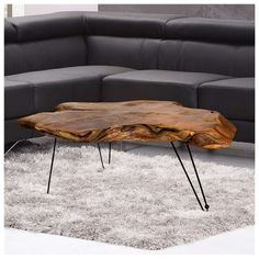 36 Unique Coffee Table Design Ideas for Living Room that You Can Try - Interior Decoration Accessories coffee tables Coffee Table Design, Teak Coffee Table, Unique Coffee Table, Rustic Coffee Tables, Decorating Coffee Tables, Wood Table Design, Chair Design, Tree Trunk Coffee Table, Wood Table Legs