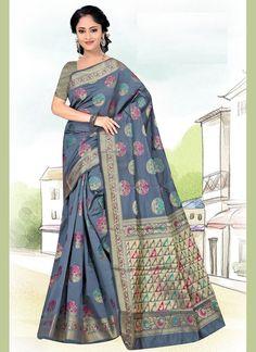 Casual Saree In Grey Latest Indian Saree, Indian Sarees Online, Latest Sarees, Net Saree, Lehenga Choli, Silk Sarees, Buy Designer Sarees Online, Indian Designer Sarees, Celebrity Gowns