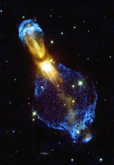 Pumpkin Nebula, also known as Rotten Egg Nebula located in the constellation Puppis. Call pumpkin Nebula because of its peculiar shape. The other nickname, Rotten Egg Nebula, refers to the large amount of sulfur compounds present in it. Cosmos, Hubble Space Telescope, Space And Astronomy, Nasa Space, Space Images, Space Photos, Stars Night, Orion Nebula, Helix Nebula