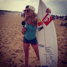 Press Trip: MTV's Becca Dudley spotted wearing Roxy and Quay Eyeware at this years Quiksilver Pro.