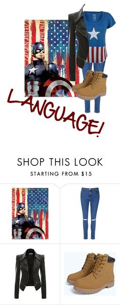 """Captain America"" by princess-accitia on Polyvore featuring Trend Setters and Glamorous"
