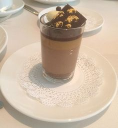 chocolate salted caramel mousse - just one of the treats on the Golden Princess, created by master chocolatier Norman Love :-)