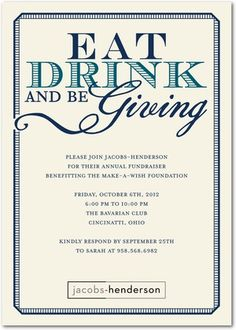 Corporate Event Invitations Charitable Giving - Front : Stormy Blue: Event Invitation Design, Gala Invitation, Corporate Invitation, Business Invitation, Event Invitations, Invites, Invitation Ideas, Invitation Templates, Surprise Party Invitations