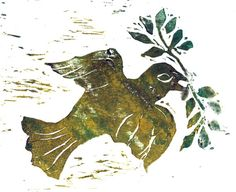 Peace Dove block print by NineLivesStudio on Etsy, $6.00