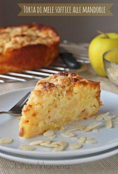 Torta di mele soffice alle mandorle dolce ricetta Statusmamma Giallozafferano passo passo tutorial blogGz Statusmamma