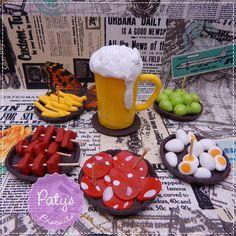 Kit Miniaturas / Topo de bolo Boteco - Paty's Biscuit