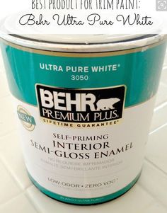 Behr paint used for trim throughout the house (excellent quality)