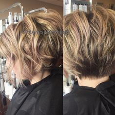 28 Best New Short Layered Bob Hairstyles Oohhhh maybe? Best New Short Layered Bob Hairstyles, Bob Ha Layered Bob Short, Short Hair With Layers, Stacked Layered Bob, Short Hair Cuts For Women Bob, Curly Stacked Bobs, Short Wavy Hairstyles For Women, Short Shag, Wavy Bobs, Layered Bob Hairstyles