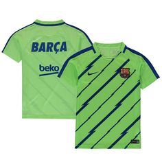Barcelona Nike Youth Squad GX1 Performance Training Jersey - Green