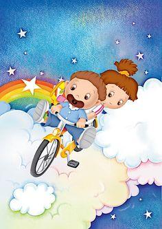 Láminas Infantiles y para Adolescentes (pág. 110) | Aprender manualidades es facilisimo.com Cute Kids, Smurfs, Cute Pictures, Pikachu, Images, Cross Stitch, Snoopy, Clip Art, Activities