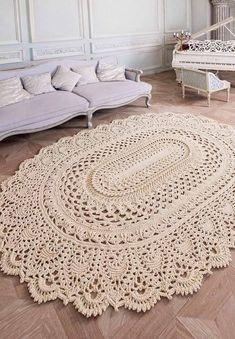 Tapete de Crochê Oval: 61 Modelos Inéditos Com Fotos Incríveis
