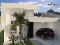 23 Ideas For House Plans Contemporary Modern Garage Modern Bungalow House, Modern House Plans, Modern House Design, Amazing Architecture, Modern Architecture, House Front, My House, Narrow House Designs, House Design Pictures