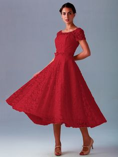 Lace Dress with Short Sleeves   Plus and Petite sizes available! Hundreds of styles, tons of colors!