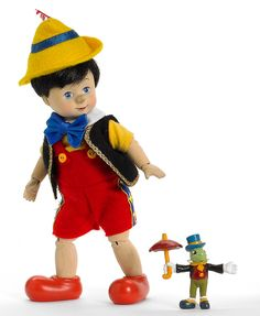 Collectible   doll Pinocchio & Jiminy Cricket by Madame Alexander