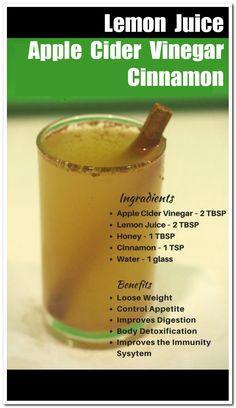 Apple Cider Vinegar Lemon, Vinegar And Honey, Apple Cider Vinegar Remedies, Apple Cider Vinegar Benefits, Cinnamon Drink, Honey And Cinnamon, Apple Cinnamon Water, Natural Sleep Remedies, Cold Home Remedies
