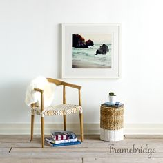 Everything looks great in a clean white frame. Custom frame your favorite art or photos in this clean, modern Irvine frame.
