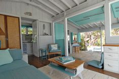 bahamian island cottage turquoise ceiling   by Brenda Olde