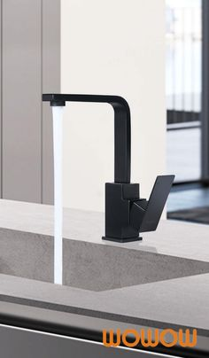 Each inch of this faucet Has Been tightly sealed, The Beautiful black Coating resists Rust, dirt, and avoides daily Scrapes, This easy to Maintain black kitchen faucet is modern and attractive and a lovely addition to any modern kitchen design. #Wowow #BlackKitchenFaucet