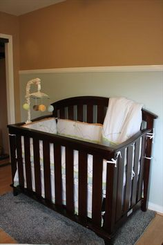 sweet and simple gender neutral nursery www.thebump.com