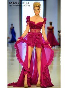 MNM Fouad Sarkis 2124 Dress #mnmfouadsarkis #fouadsarkisdresses #eveningdresses #gown #dress #promdress #prom2015 #ruffles #sheer #elegant #couture #runway #pageant #pageantdresses #macktak #macktakdresses