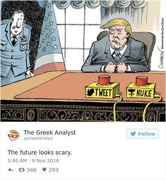 BOM HUMOR :) / 15 Desenhos de todo o mundo ilustrando bem como a população se sente sobre Trump como presidente | +MMS