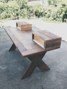 Reclaimed Wood Home Studio Desk