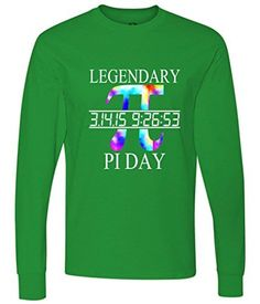 Legendary Pi Day Tie Dye long sleeve T-Shirt Green Small