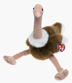 428a27d1892 Amazon.com  Ty Beanie Buddies - Stretch the Ostrich  Toys   Games