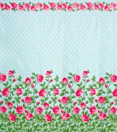 Gertie Collection Fabrics-Rose Garden Mint Sateen